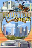 Houston, Texas - Montage Scenes Posters by  Lantern Press
