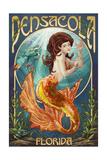 Pensacola, Florida - Mermaid Prints