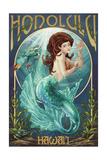 Mermaid - Honolulu, Hawaii Prints