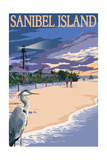 Sanibel Island, Florida - Lighthouse Posters by  Lantern Press