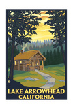 Lake Arrowhead, California -Cabin in the Woods Posters