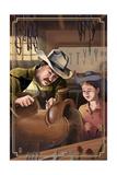 Cowboy Saddle Maker Poster