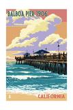 Balboa, California - Balboa Pier since 1906 Posters by  Lantern Press