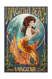 Virginia Beach, Virginia - Mermaid Prints by  Lantern Press