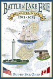 Put-In-Lake, Ohio - Battle of Lake Erie Nautical Chart Prints by  Lantern Press