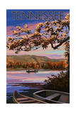 Tennessee - Lake at Dusk Prints by  Lantern Press