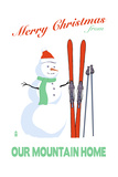 Sonora, California - Merry Christmas Snowman Prints by  Lantern Press
