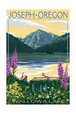 Joseph, Oregon - Wallowa Lake Posters by  Lantern Press