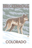 Gray Wolf Standing - Breckenridge, Colorado Prints by  Lantern Press