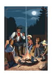 Cowboy Campfire Story Telling Posters by  Lantern Press