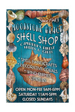Moonstone Beach, California - Shell Shop Vintage Sign Prints by  Lantern Press
