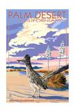 Palm Desert, California - Roadrunner Scene Prints by  Lantern Press