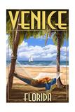 Venice, Florida - Palms and Hammock Prints by  Lantern Press