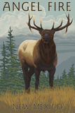 Angel Fire, New Mexico - Elk Scene Prints by  Lantern Press