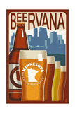 Minnesota - Beervana Vintage Sign Prints by  Lantern Press