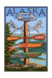 Kenai River, Alaska - Sign Post Posters by  Lantern Press