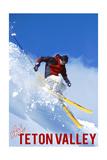 Teton Valley, Idaho - Skier Plakater av  Lantern Press