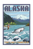 Alaska - Salmon Fisherman Poster by  Lantern Press