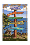 Cambria, California - Destination Sign Posters by  Lantern Press