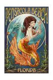 Pensacola, Florida - Mermaid Poster