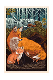 Fox and Kit Prints by  Lantern Press