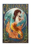 California - Mermaid Prints by  Lantern Press