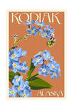 Kodiak, Alaska - Forget-Me-Nots Prints by  Lantern Press