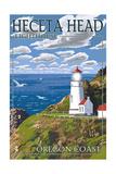 Heceta Head Lighthouse - Oregon Coast Posters by  Lantern Press