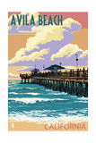 Avila Beach, California - Pier Sunset Posters by  Lantern Press