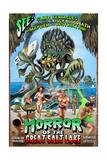 Salt Lake City, Utah - Alien Attack Horror Poster by  Lantern Press