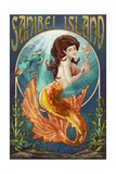 Sanibel Island, Florida - Mermaid Posters by  Lantern Press