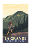 La Grande, Oregon - Mountain Hiker Posters by  Lantern Press