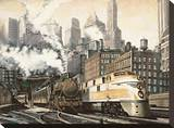 The Station, Chicago Stretched Canvas Print by Matthew Daniels