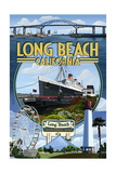 Long Beach, California - Montage 3 Posters by  Lantern Press