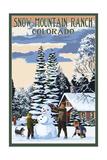 Snow Mountain Ranch, Colorado - Snowman Scene Posters