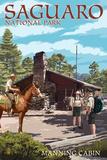 Saguaro National Park, Arizona - Manning Cabin Prints by  Lantern Press