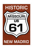 New Madrid, Missouri - US 61 Sign Prints by  Lantern Press