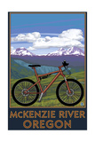 McKenzie River, Bicycle Scene Poster van  Lantern Press