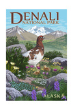 Denali National Park, Alaska - Ptarmigan Art by  Lantern Press