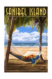 Sanibel Island, Florida - Hammock Prints by  Lantern Press