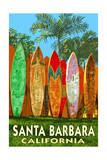 Santa Barbara, California - Surfboard Fence Prints by  Lantern Press
