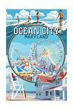Ocean City, Maryland - Montage Scenes Posters by  Lantern Press