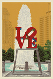 Philadelphia, Pennsylvania - Love Statue Poster von  Lantern Press
