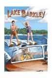 Lake Barkley, Kentucky - Water Skiing Print by  Lantern Press