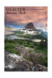 Glacier National Park, Montana - Hidden Lake and Bearhat Mountain Sunrise Prints by  Lantern Press