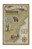 Appalachian Trail Map Prints