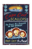 Cape Cod, Massachusetts - Scallops Vintage Sign Prints by  Lantern Press