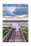 Pt. Pleasant Beach, New Jersey - Beach Boardwalk Scene Prints by  Lantern Press