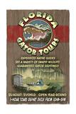 Florida - Alligator Tours Vintage Sign Prints