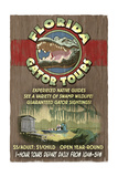 Florida - Alligator Tours Vintage Sign Prints by  Lantern Press